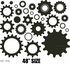 Gears Wall Decals Kit