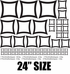 Pinched Outlined Square Wall Decals Kit