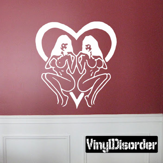 Nude Women with Heart Decal