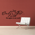 Only god can count the apples in one seed Wall Decal