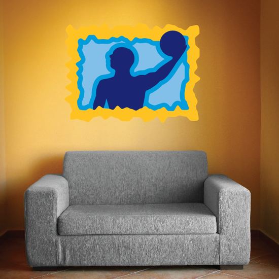 Blue and Yellow Water Polo Decal