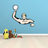 Water Polo Player Printed Die Cut Decal