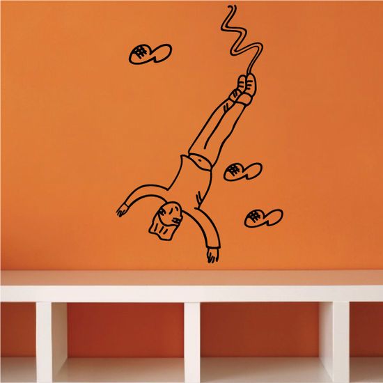 Male Bungee Jumping Decal