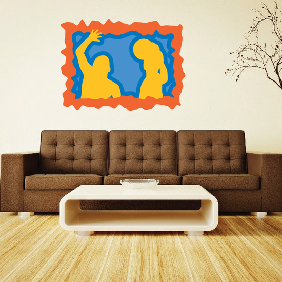 Water Polo Wall Decal - Vinyl Sticker - Car Sticker - Die Cut Sticker - CDSCOLOR008