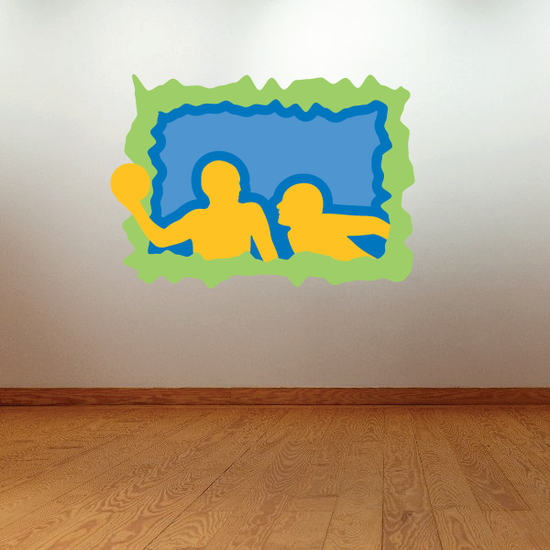Water Polo Wall Decal - Vinyl Sticker - Car Sticker - Die Cut Sticker - CDSCOLOR017