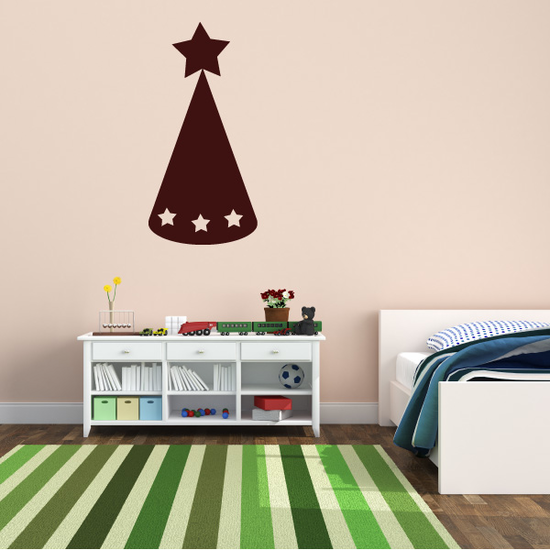 Star Party Hat Decal