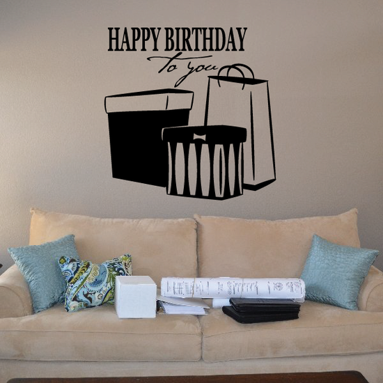 Happy Birthday to You Presents Decal