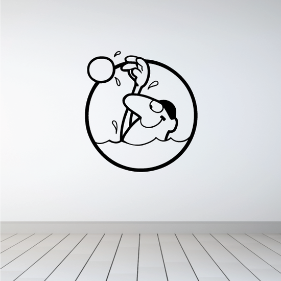 Water polo Wall Decal - Vinyl Decal - Car Decal - Bl001