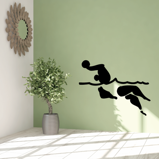 Water polo Wall Decal - Vinyl Decal - Car Decal - Bl004