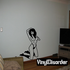 Topless Woman Kneeling Pinup Decal