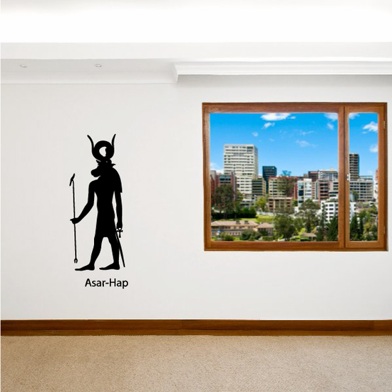 Egyptian God Asar-Hap Wall Decal
