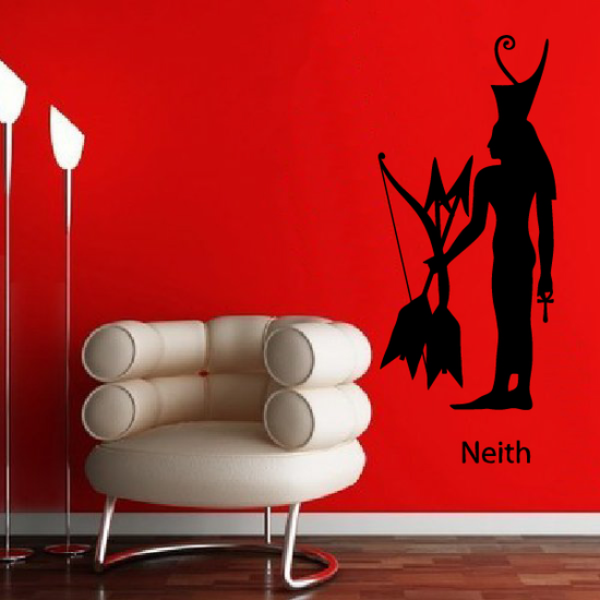 Egyptian God Neith holding Bow and Arrows Decal