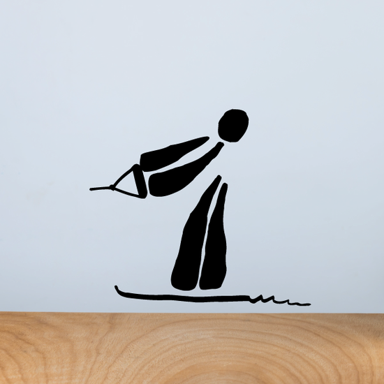 Water Skiing Illustration Decal