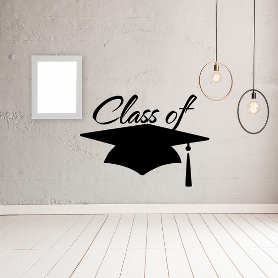 Cap Class of your year Graduation Decal