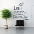 Life is not about waiting for the storm to pass Wall Decal