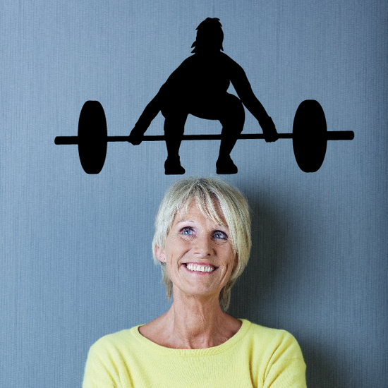 Female Deadlift Barbell Weightlifting Decal
