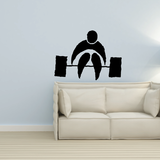 Weightlifting Illustration Decal