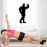 Weightlifting Wall Decal - Vinyl Decal - Car Decal - 011