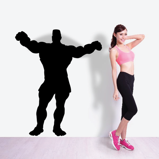 Weightlifting Wall Decal - Vinyl Decal - Car Decal - 014