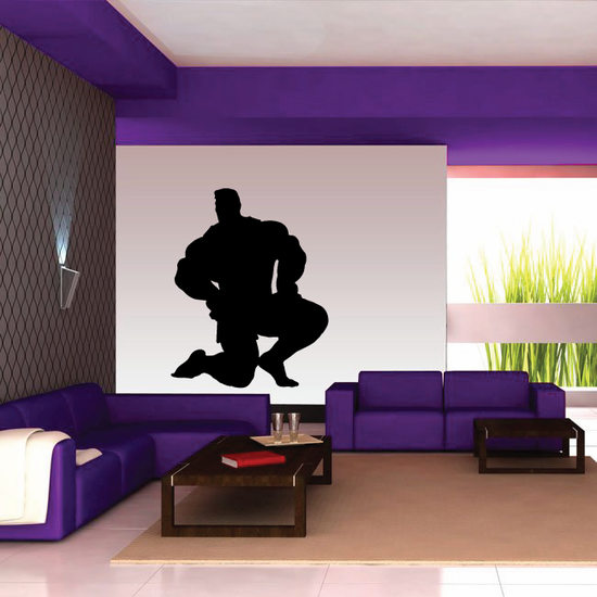 Weightlifting Wall Decal - Vinyl Decal - Car Decal - 024