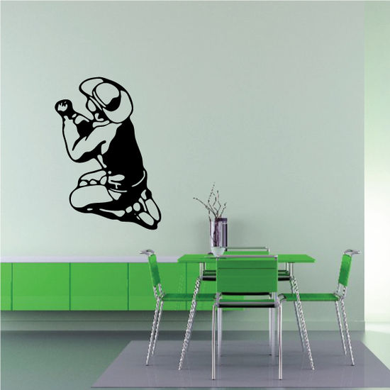 Cowboy Praying with closed fists Decal
