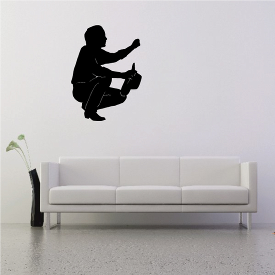 Cowboy Kneeling with hand to the Air Praying Decal