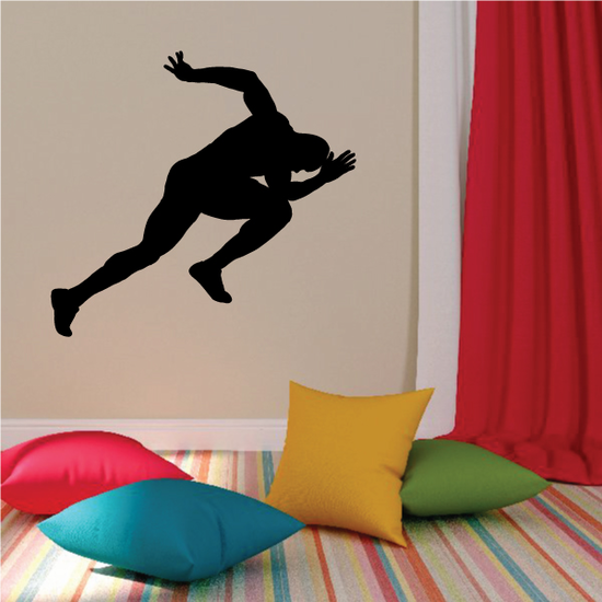 Sprinting Male Runner Decal
