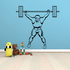 Weight Lifting Wall Decal - Vinyl Decal - Car Decal - NS009