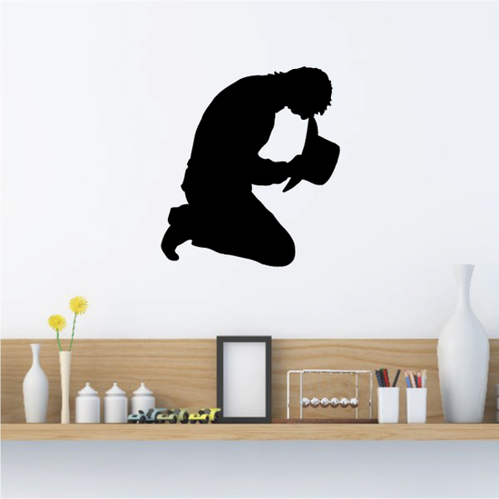 Sad Cowboy Praying Decal