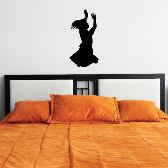 Girl Praying with hands in the air decal