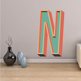 3D Monogram Sticker