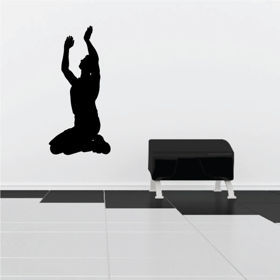 Praying Man with arms in air Decal