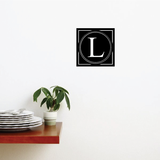 Dotted Line Monogram Decal