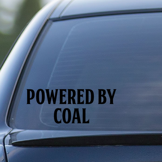 Powered By Coal Decal