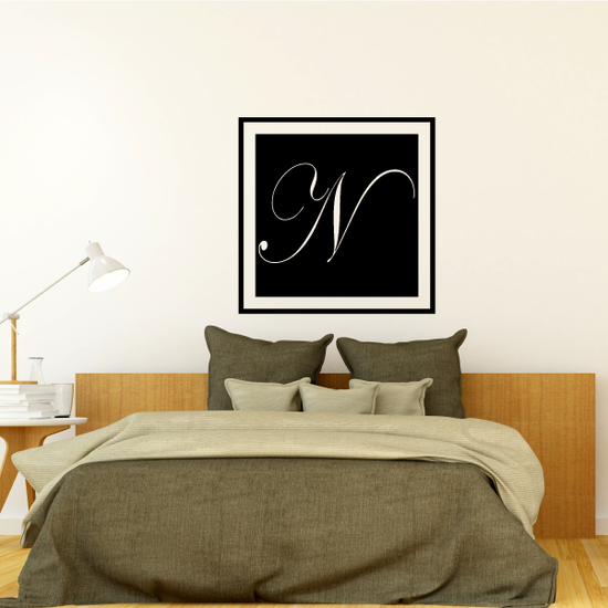 Square Monogram Decal