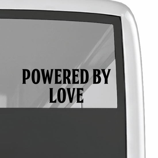 Powered By Love Decal