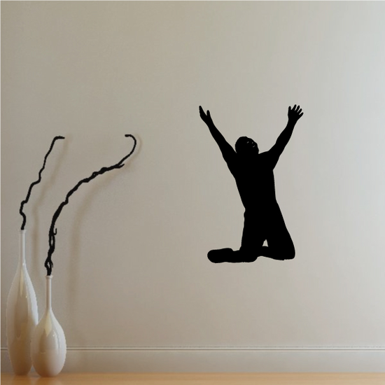 Praying Man With Hands Open Decal