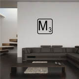 Tile Outline Monogram Decal