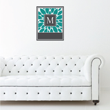 Leaf Monogram Sticker
