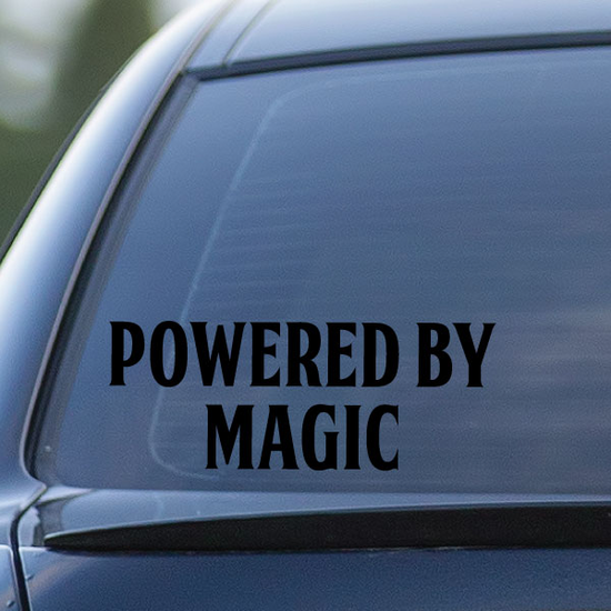 Powered By Magic Decal