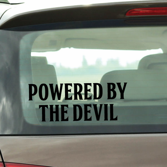 Powered By The Devil Decal