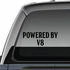 Powered By v8 Decal