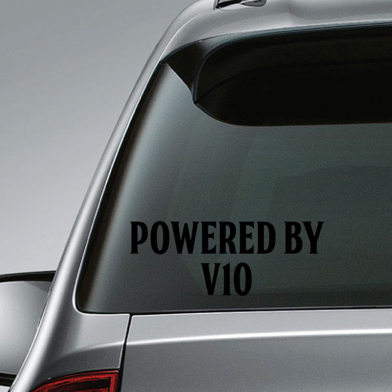 Powered By v10 Decal