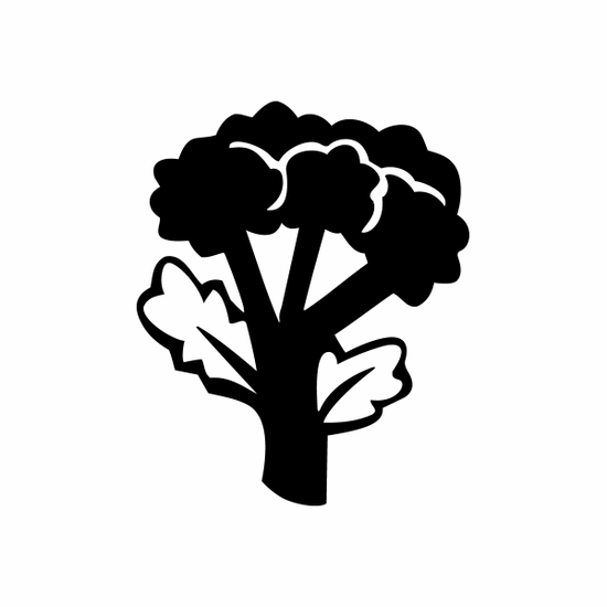 Broccoli and Leaves Decal