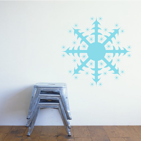 Pointed Star Snowflake Decal