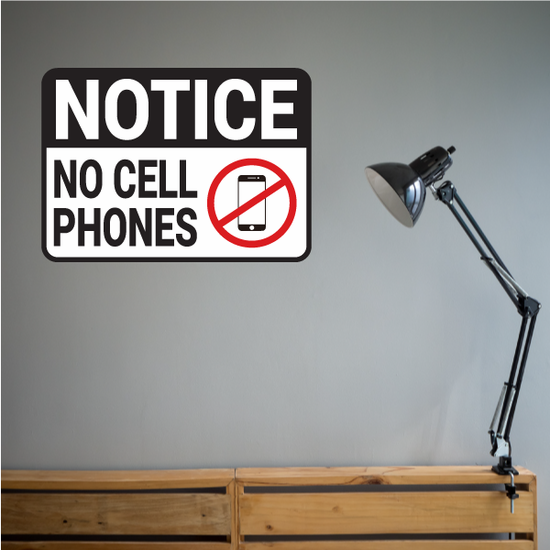 No Smart Phone Notice Sticker