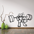 Weight Lifting Wall Decal - Vinyl Decal - Car Decal - CDS002