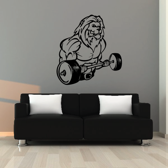 Weight Lifting Wall Decal - Vinyl Decal - Car Decal - CDS004