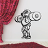 Weight Lifting Wall Decal - Vinyl Decal - Car Decal - CDS007