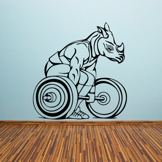 Weight Lifting Wall Decal - Vinyl Decal - Car Decal - CDS008